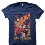 Giyu Demon Slayer Navy Blue T-Shirt