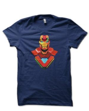 Iron man Navy Blue T-Shirt