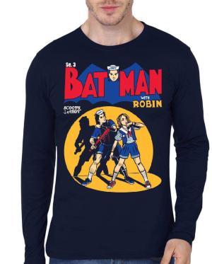 Bat Man With Robin Stranger Things Full Sleeve T-Shirt