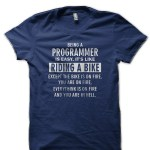 Being A Programmer Is Easy Navy Blue T-Shirt