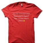Coronavirus Red T-Shirt