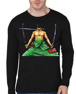 Roronoa Zoro Black Full Sleeve T-Shirt