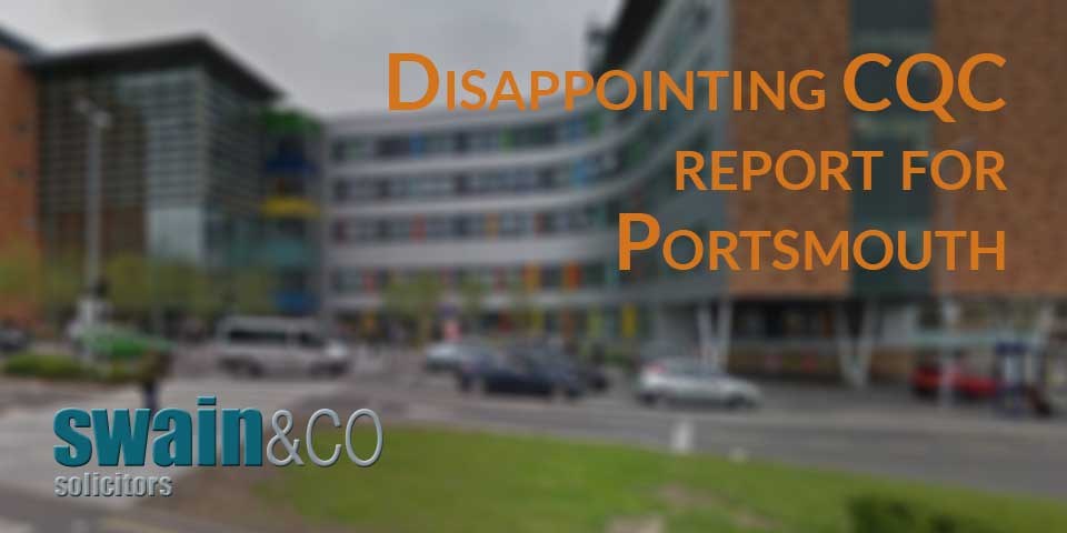 Disappointing CQC report for Portsmouth Hospitals NHS Trust