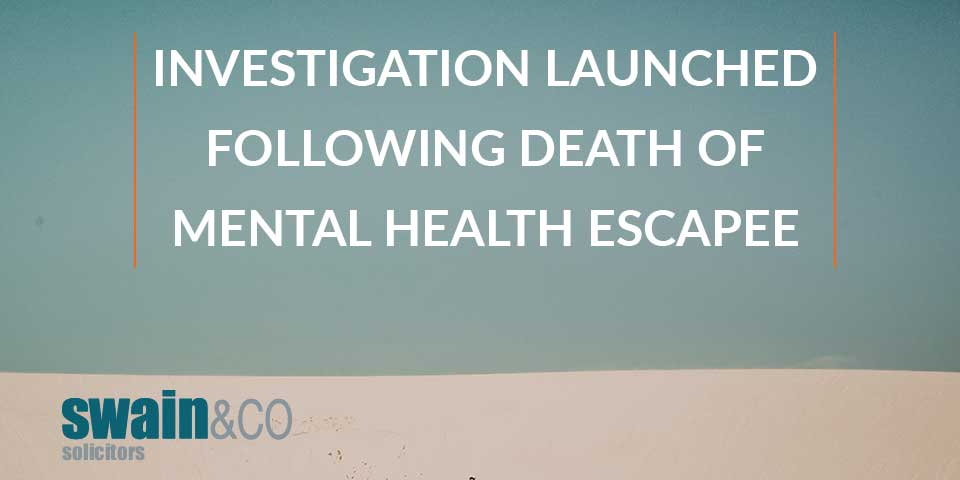 Investigation launched following death of mental health escapee