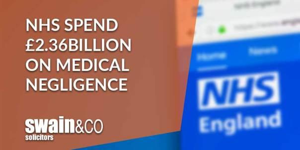 NHS spend £2.36billion on medical negligence   Clinical Negligence Lawyers & Solicitors   Swain & Co Solicitors