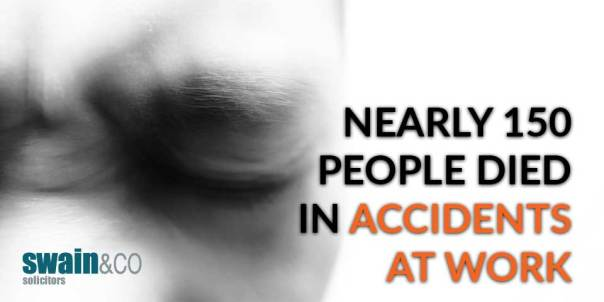 Nearly 150 people died in accidents at work | Personal Injury Lawyers and Solicitors | Swain & Co Solicitors