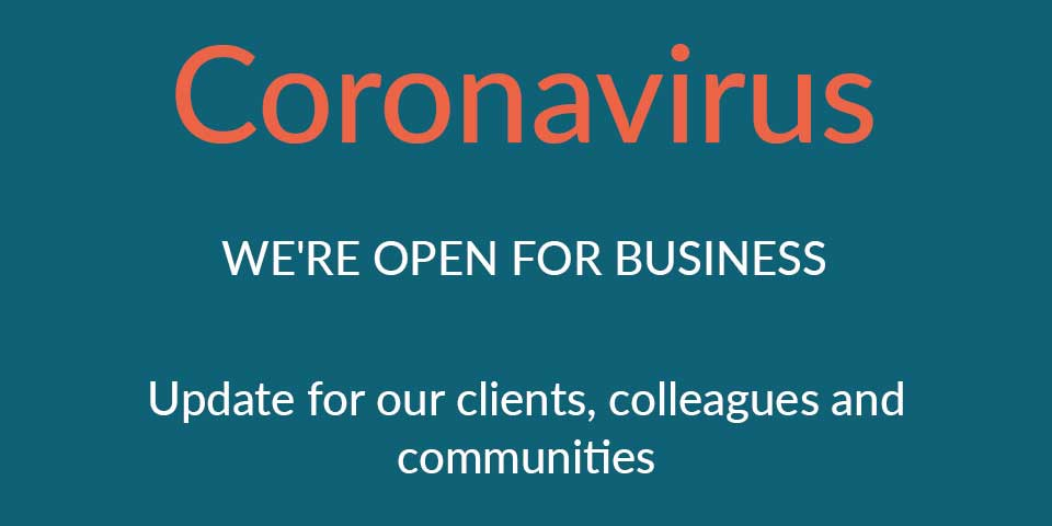 A Message For Our Clients, Colleagues and Communities