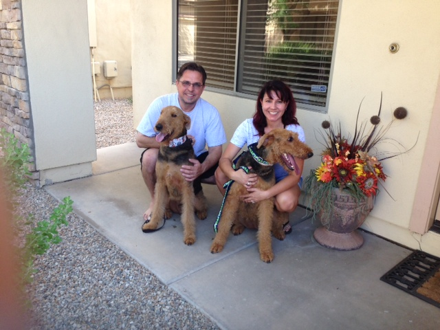 Macy with her new family