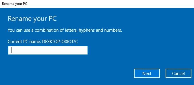 كيف تغير اسم جهاز الكومبيوتر في الويندوز 10 5