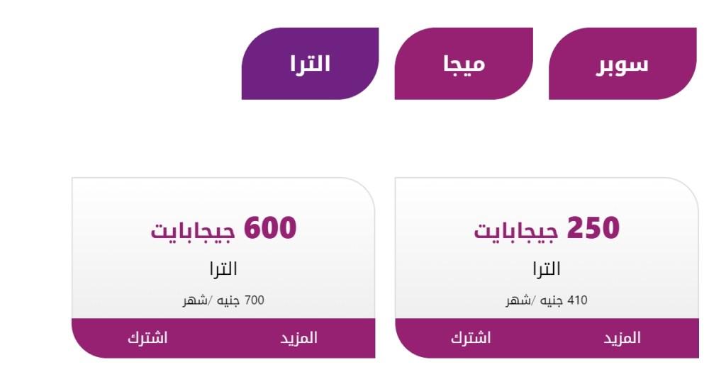 أسعار جديدة للانترنت الارضي في مصر 3