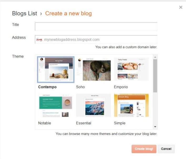Blogger.com كيف تنشيء مدونة مجانية مع جوجل 6