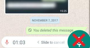 تطبيق واتس اب يختبر ارسال مقطوعه صوتية بدون استمرار الضغط على أيقونة المايك