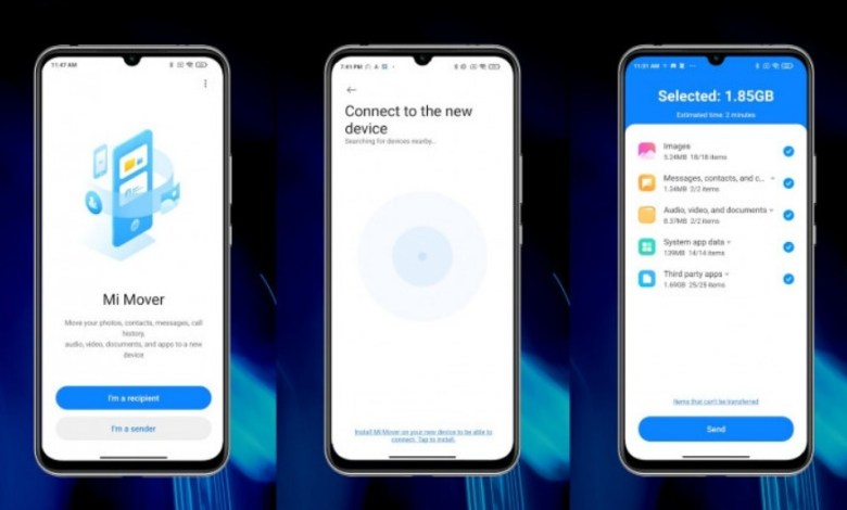 تطبيق Mi Mover متاح على جوجل بلاي الان لنقل بياناتك الى هواتف شاومي