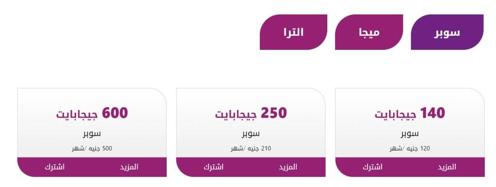 أسعار جديدة للانترنت الارضي في مصر 1