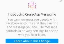 فيس بوك تبدأ ربط الرسائل بين ماسنجر و انستجرام
