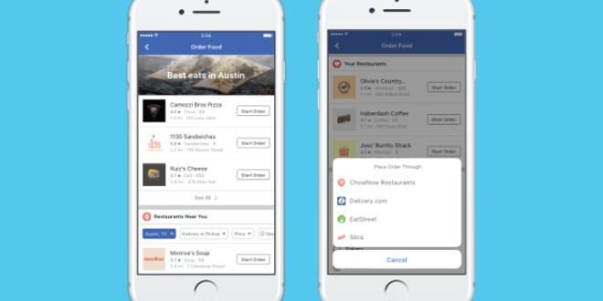فيس بوك تتيح طلب الطعام من داخل التطبيق (في الولايات المتحدة فقط)