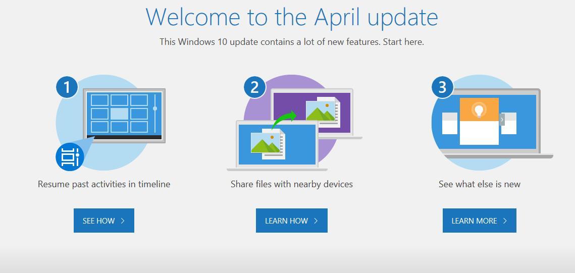 مايكروسوفت تقرر اطلاق اسم (April update) على تحديث الويندوز 10 القادم