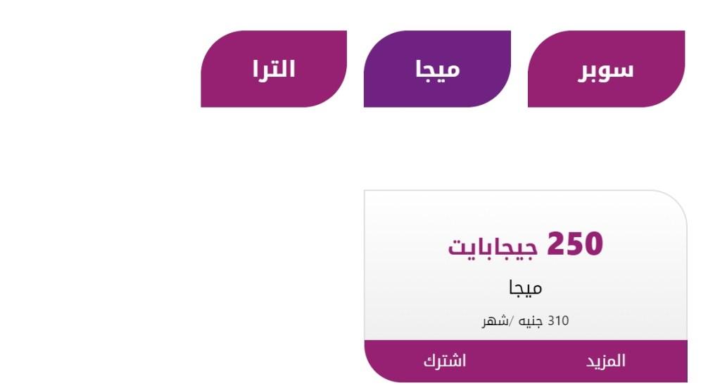 أسعار جديدة للانترنت الارضي في مصر 2