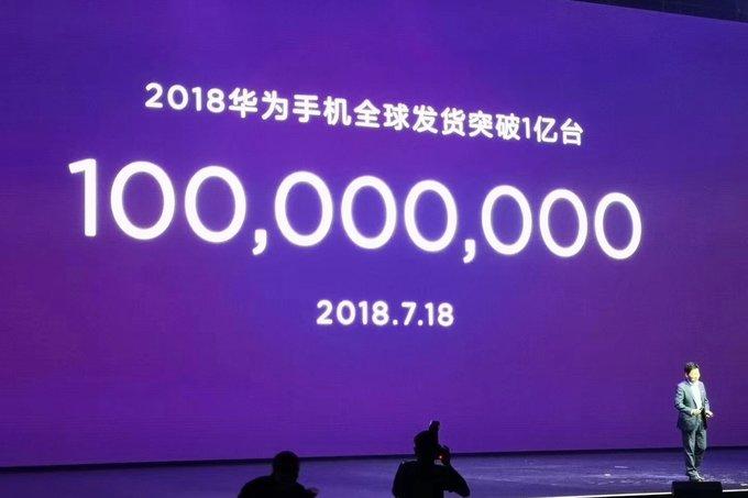 هواوي تعلن عن شحن 100 مليون هاتف ذكي في أول 6 شهور من 2018