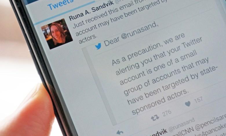 تويتر تبدأ تحذير بعض مستخدميها من محاولات الرقابة الأمنية 9