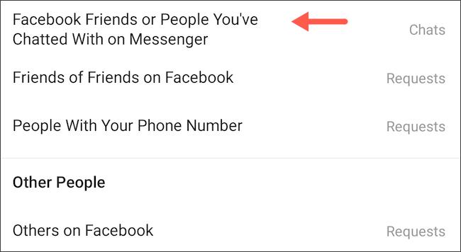 كيف تمنع مستخدمي فيس بوك من مراسلتك على انستجرام 4