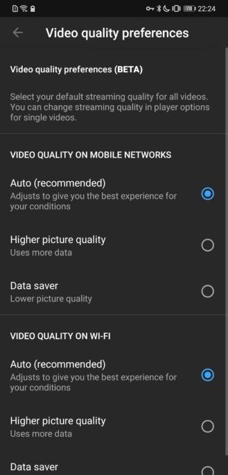يوتيوب سيتيح لك اختيار إعداد جودة الفيديو الافتراضي - اخيرا 4