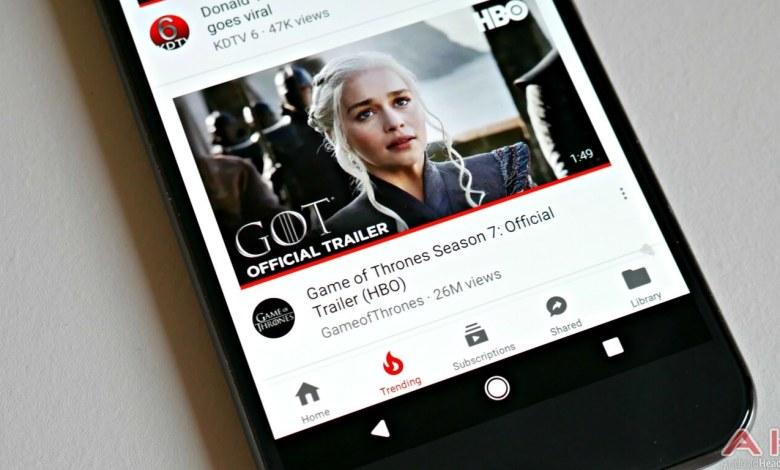 يوتيوب تقدم تصميم جديد لنسخة تطبيق الاندرويد 1