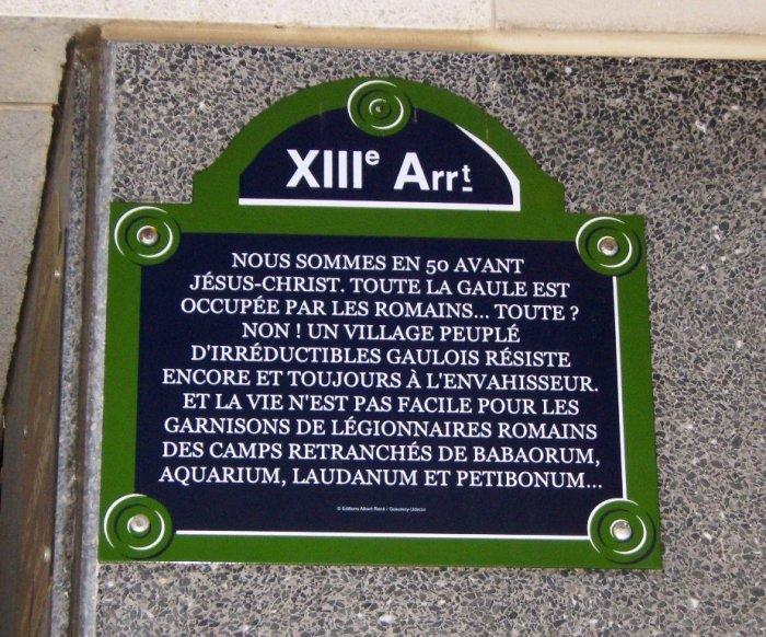 Plaque de Rue René Goscinny - Paris