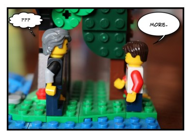 Father and Son - Lego - Social Distancing - 4
