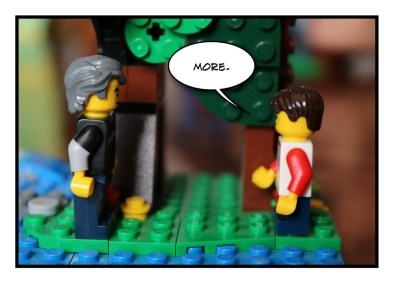 Father and Son - Lego - Social Distancing - 5