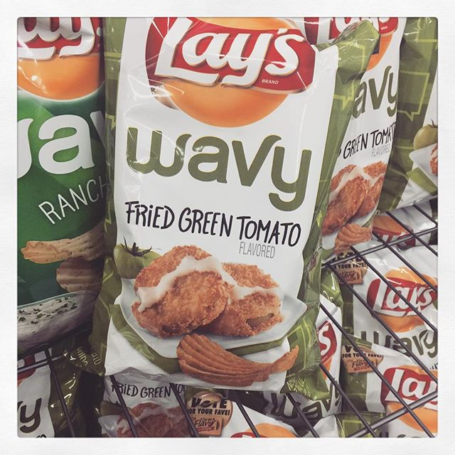 Fried Green Tomato chips. Umm yeah.