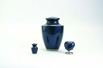Trinity Moonlight Blue Brass Ashes Urn