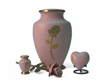 Aria Series Rose Cremation Urn