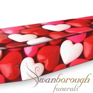Love hearts Coffin