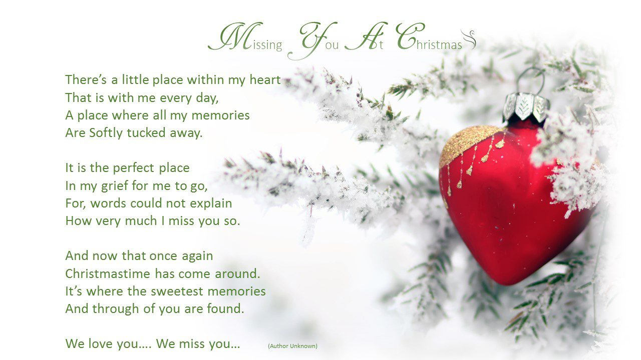 Missing you at christmas swanborough funerals missing you at christmas kristyandbryce Image collections