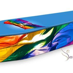 Rainbow Flag Coffin