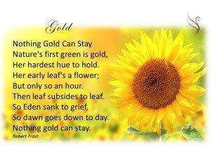 Funeral Poem Gold