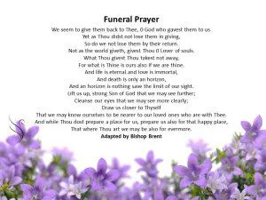 Funeral Prayer Bishop Brent