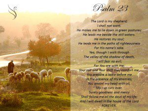 Funeral Reading 23rd Psalm