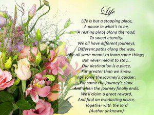 Funeral Poem Life