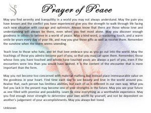 Prayer of Peace