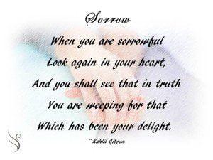 Sorrow by Kahlil Gibran