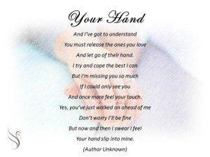 Funeral Poem Your Hand Swanborough Funerals