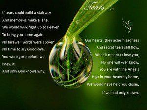 Funeral Poem Tears