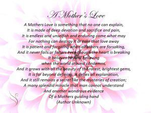 funeral poem mothers love