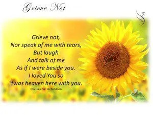 Grieve Not Funeral Quote