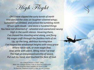 Funeral Poem High Flight