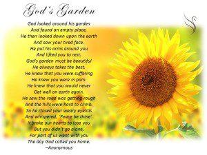 Funeral Poem Gods Garden - Swanborough Funerals