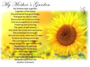 Funeral Poem My Mothers Garden