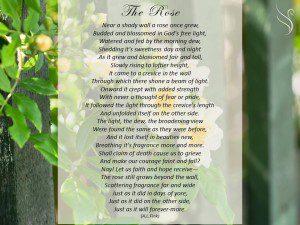 Funeral Poem Rose